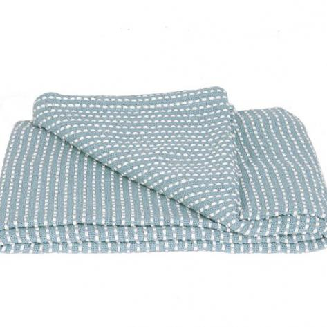 Dusk blue blanket with white dots