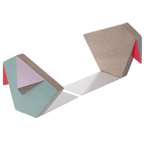 Geometric Bird Bookends