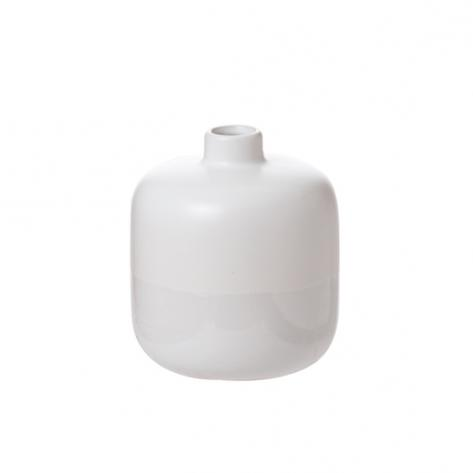 Ceramic white dip gloss vase