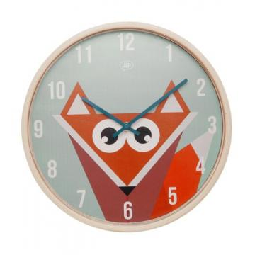 Geometric Fox Wall Clock