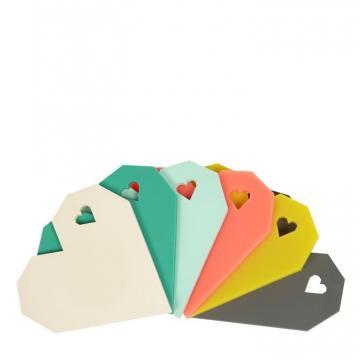 Origami Heart Coaster Set