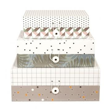 Set of 3 Storage Boxes in Harmony Paper