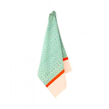 Pack of 2, tea towel Aztec cotton mint green