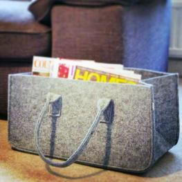 Magazine holder, mellow felted grey