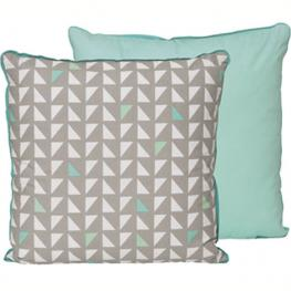On trend Aztec pattern cushion