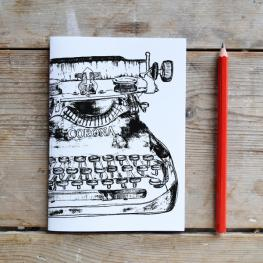 Black Typewritter A5 notepad